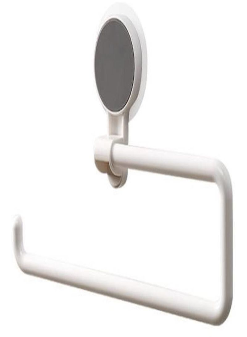 Bathroom Paper Roll Hanger Powerful Vacuum Suction Cup Paper Towel Hanger Removable Paper Holder Rack Kitchen Bathroom Accessories White