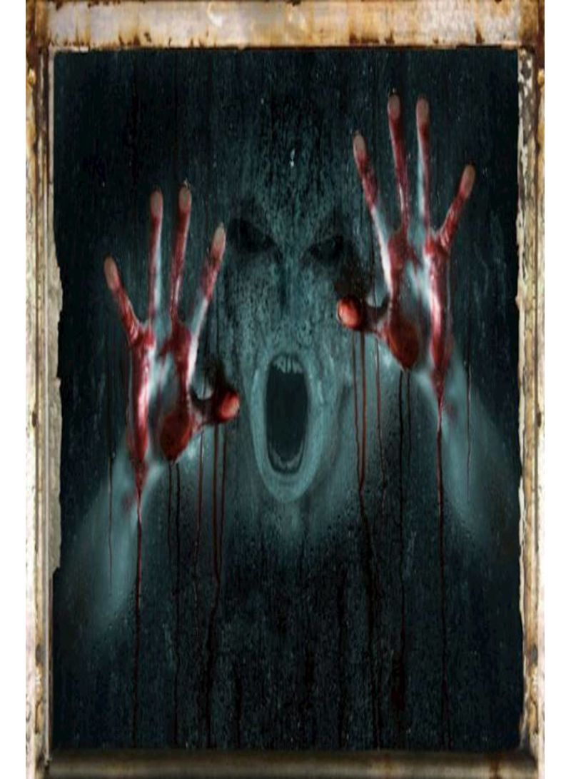 3D Wallpaper Halloween Realistic Ghost Bar Horror House Wall Stickers Living Room Tv Background Sofa Bedroom Decorative Murals-X