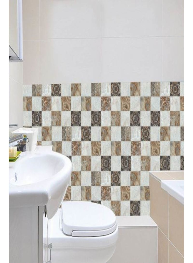 6Pcs/Set European Style Waterproof Tiles Stickers Kitchen Bathroom DIY Wall Stickers Creative Home Decor mm