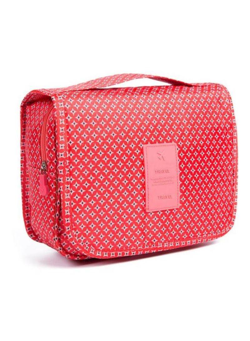 Multipurpose Hanging Storage Bag Red 19x24 centimeter