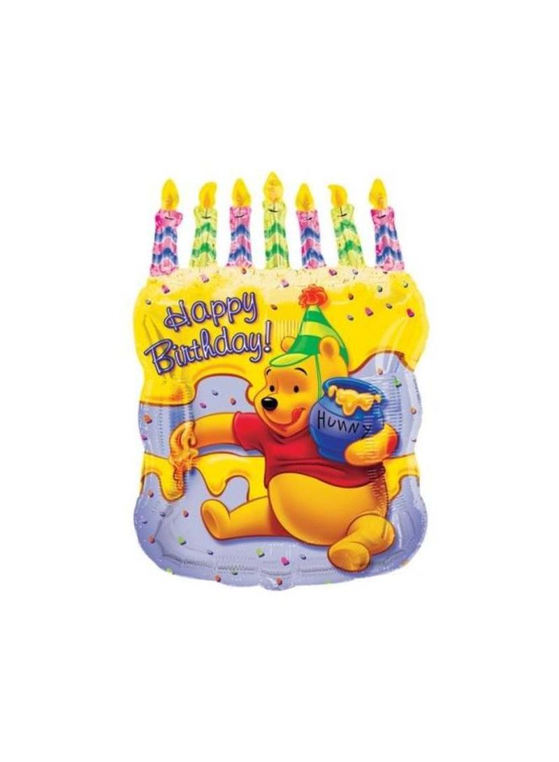 Pooh Cake With Candles Foil Balloon