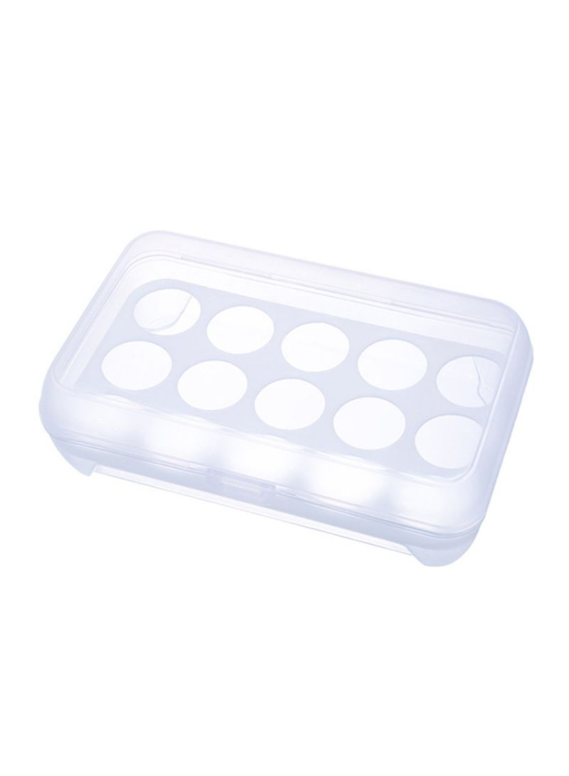 15-Grid Eggs Container Clear/White 2.5x1.5x0.8 centimeter
