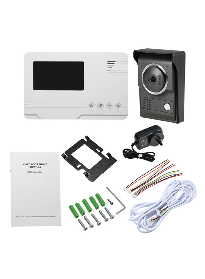 7inch Monitor Wired WiFi Video Door Phone Doorbell Intercom Entry System with 1000TVL Wired IR-CUT Camera Multicolour 1.275 kg