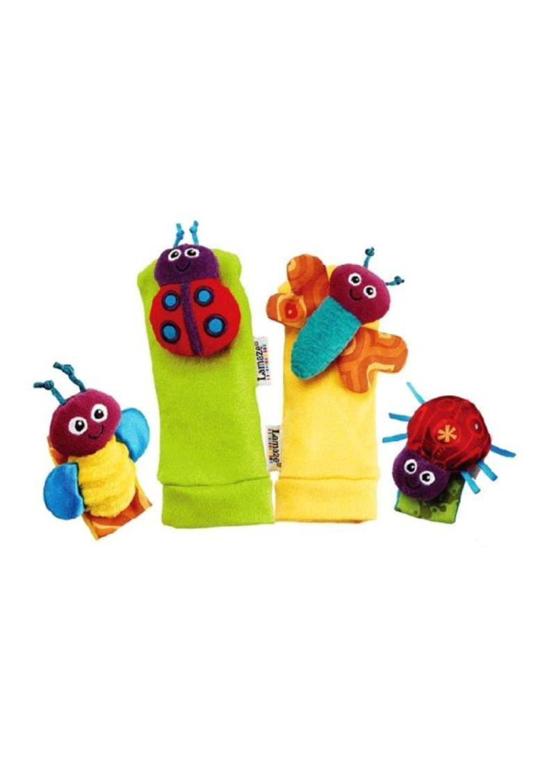 4-Piece Socks and Wrist Rattles Soft Toys Set