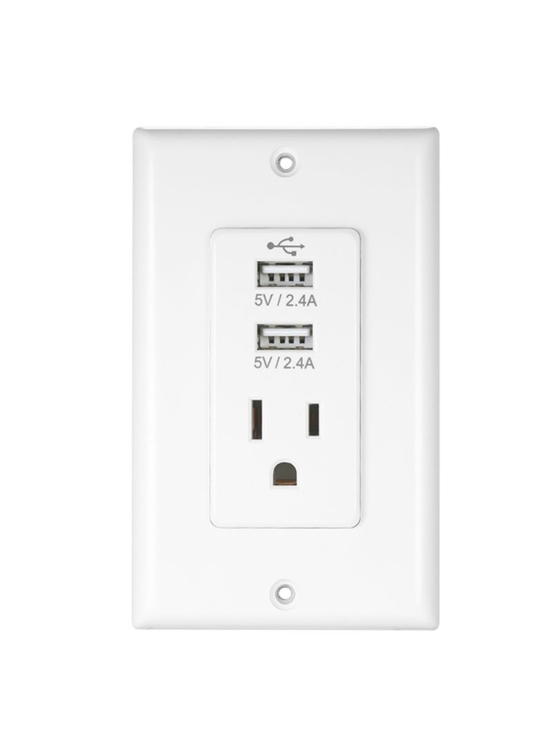 Wireless Home Plug Socket Adaptor Plug with USB Interface White 0.169 kg