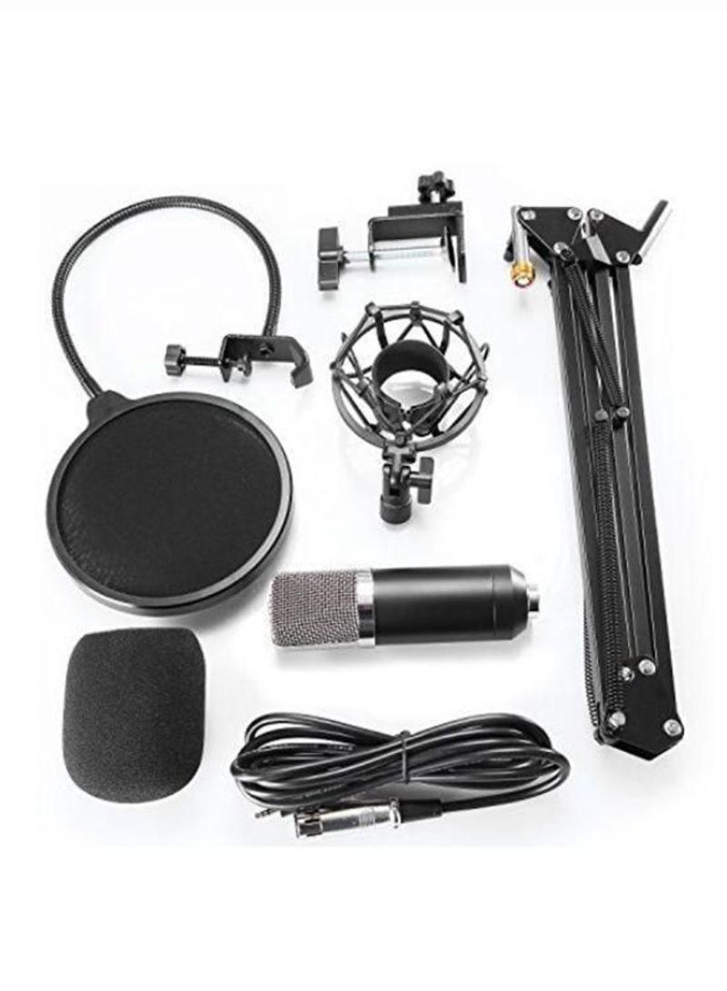 Broadcasting Recording Condenser Microphone Kit 3237200182 Black