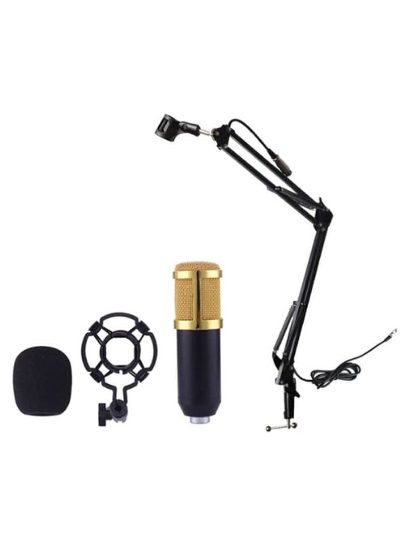 Recording Condenser Microphone With Stand BM-800 Gold/Black