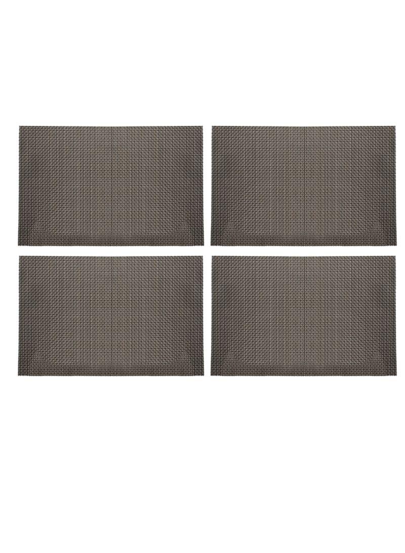 4-Piece Rectangle Tabletop Placemats Black 45 x 30 centimeter