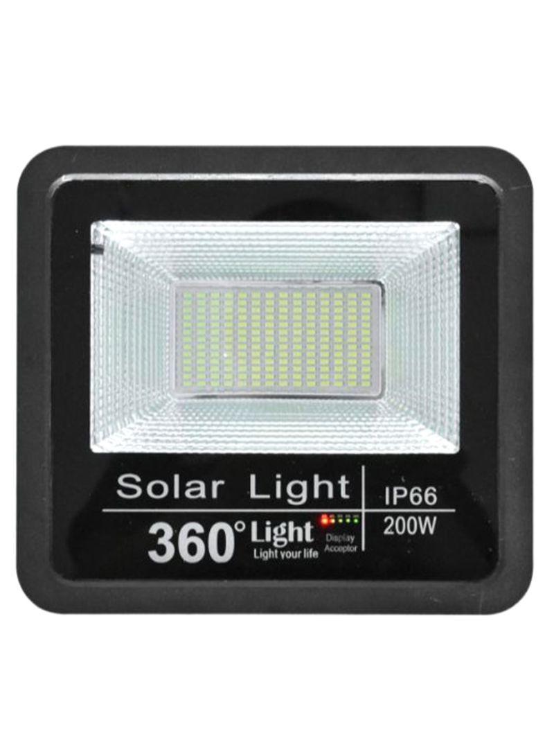 Solar LED Flood Outdoor Light Black/Cool White 6.4 kg