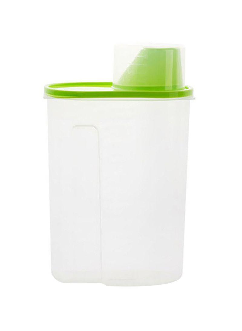 Transparent Food Box Sealed Crisper Grains Storage Tank Green