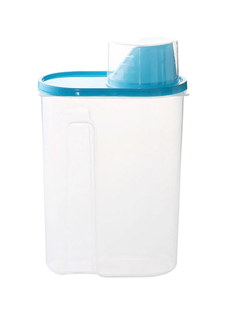 Food Storage Box Clear/Blue 15x10x27 centimeter