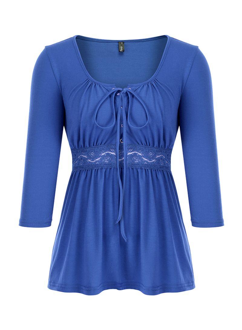 Basic Casual Tops Blouse T-Shirt Dark Blue