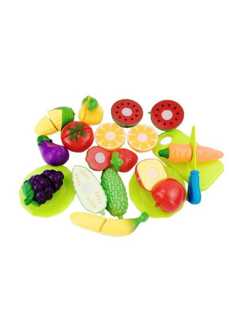 16Piece Plastic Vegetables Fruit Baby Kitchen Toy Set