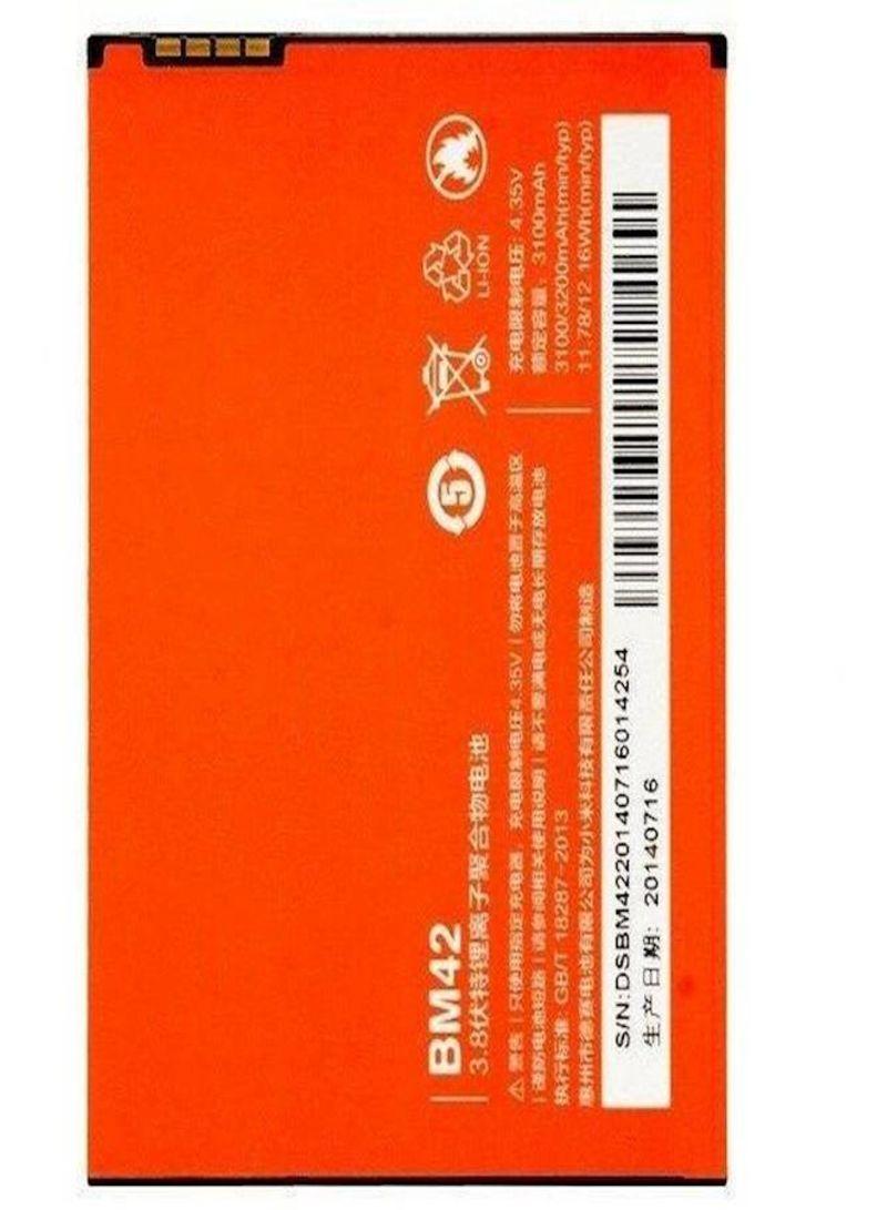 Replacement Battery For Xiaomi REDMI Note BM42 Orange/White 3100 mAh