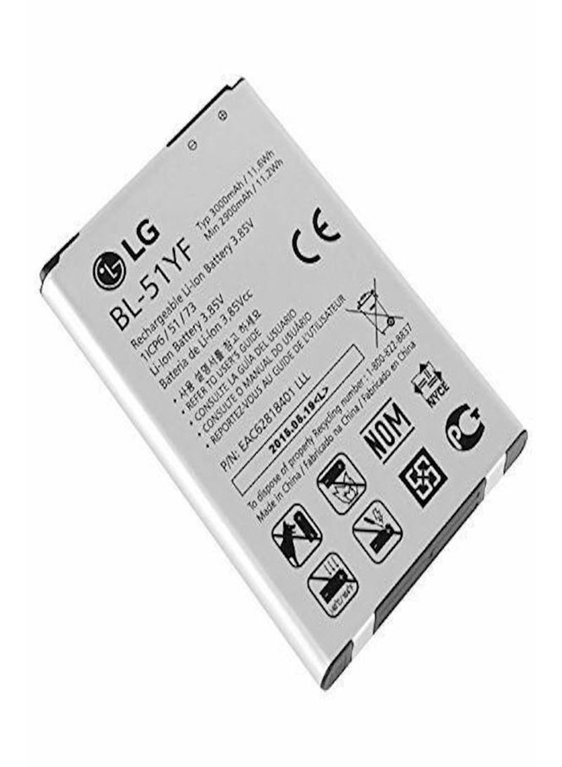 Replacement Battery For LG G4  Bl-51yf White/Black 3000 mAh