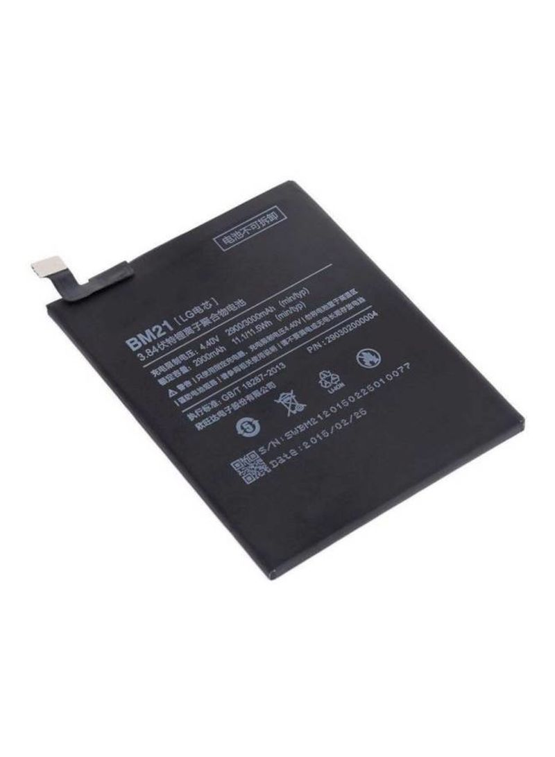Replacement Battery For Xiaomi Mi Note BM21 Black 2900 mAh