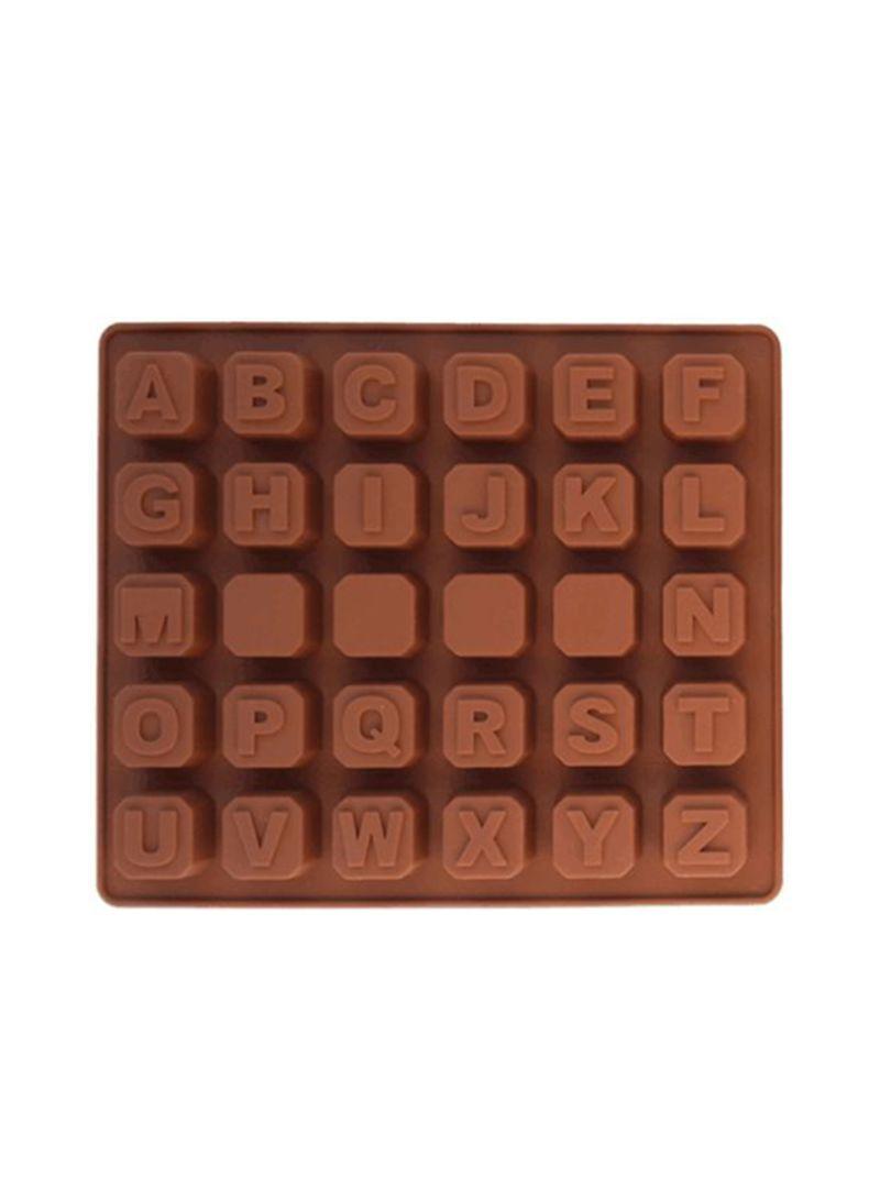3D Bakeware 26 Alphabet Mould Brown 18*15*1.5 centimeter