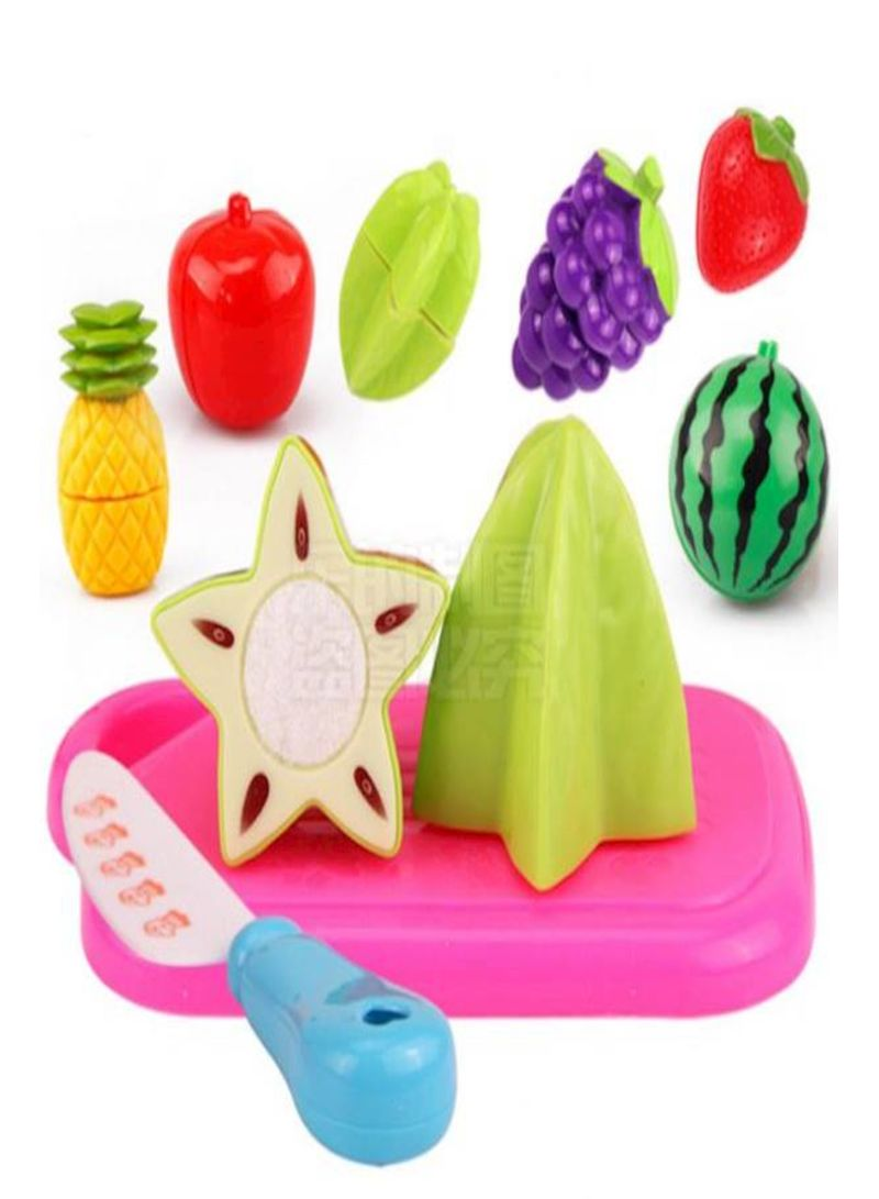 Cutting Fruit Food Pretend Play 8 Piece Set