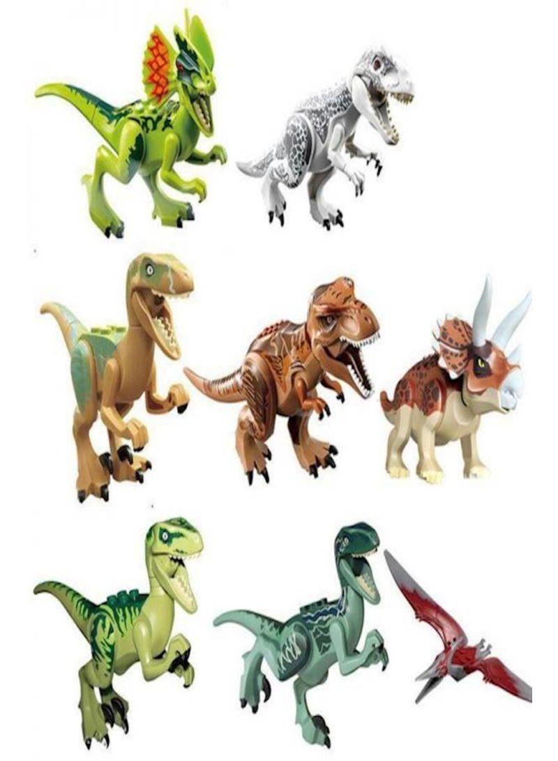 8 Piece Dinosaur Blocks Sets
