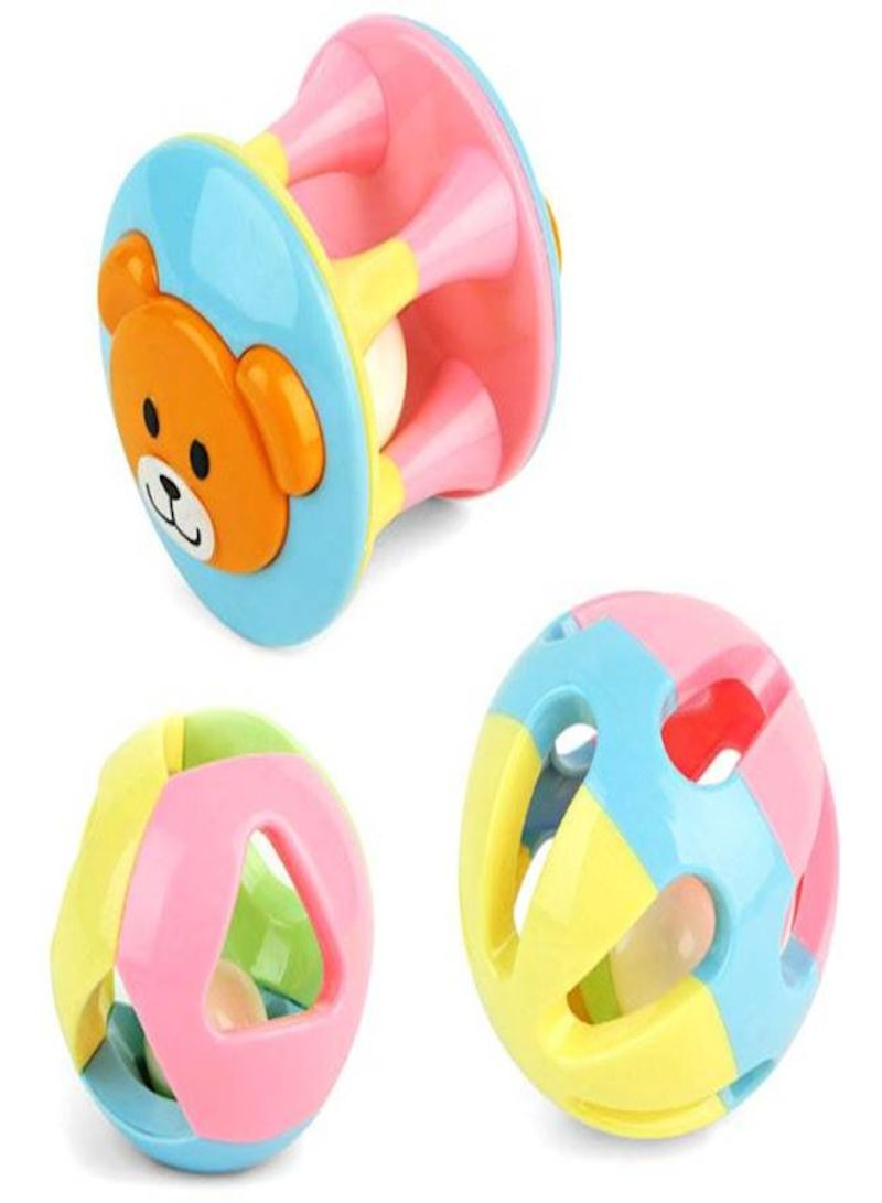 3 Piece Baby Rattle Set Educational Toys