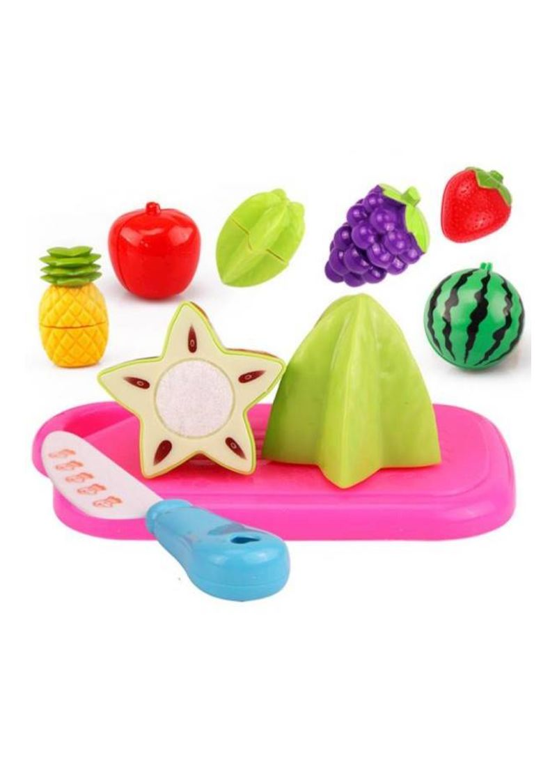 8-Piece Cutting Fruit Food Pretend Play Children Kid Educational Toy