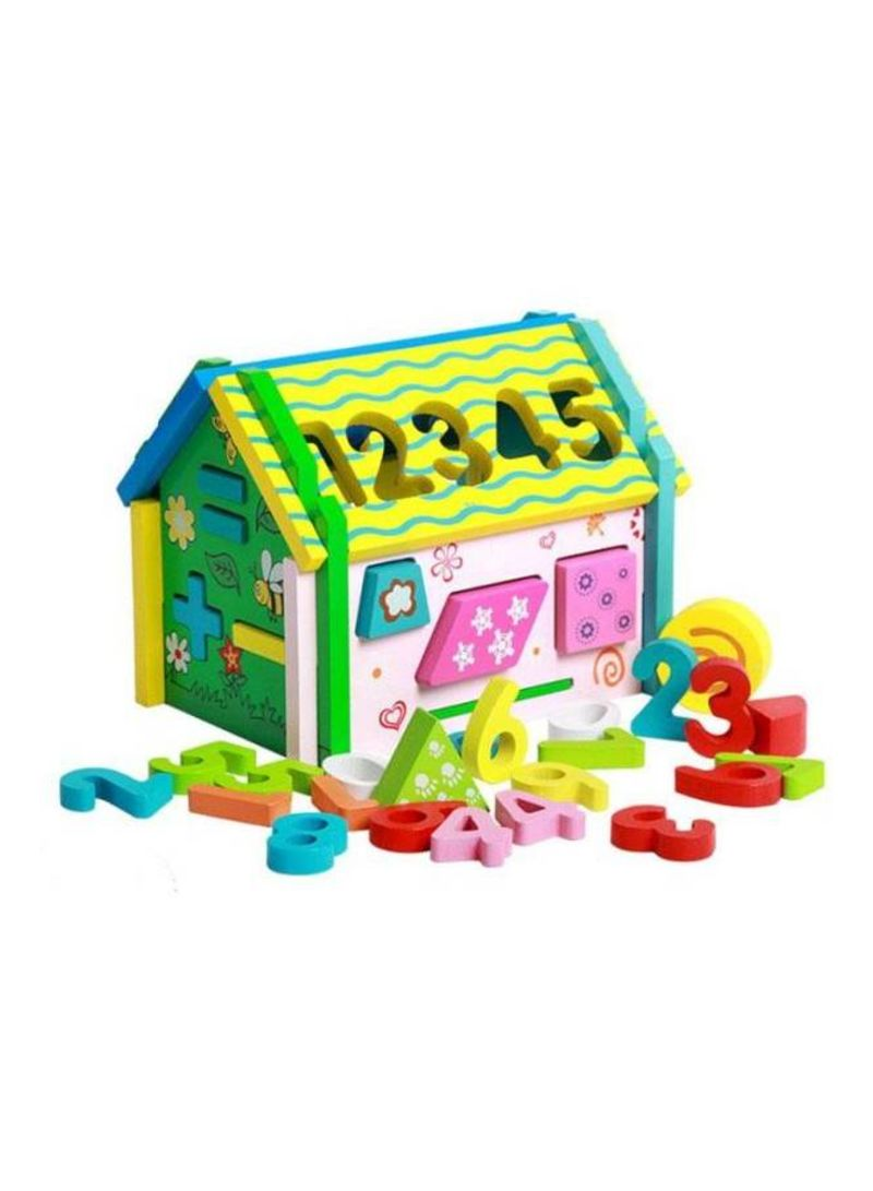 Baby Wooden Number Architecture Educational Toy