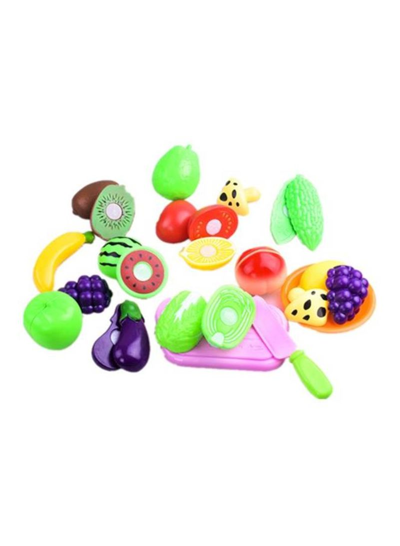 16Piece Cutting Fruit Vegetable Pretend Play Set