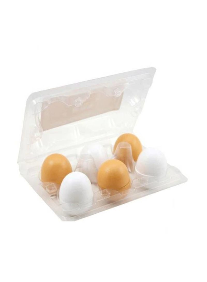 6 Pieces Wooden Play Eggs Assembling Toy