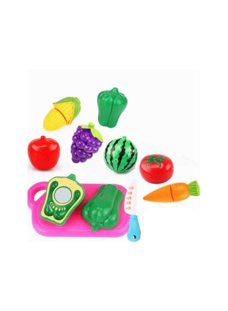 10 -Pieces Kitchen Toys Plastic Fruits Vegetables Cutting Educational Toy