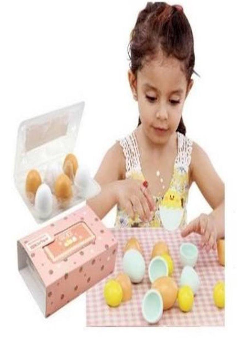 6-Piece Eggs Assembling Play Toy Set