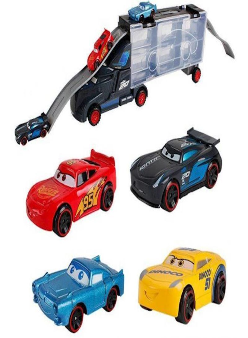 6 Piece Vehicle Container Car Toy Set Lightning Mcqueen For Children Kids