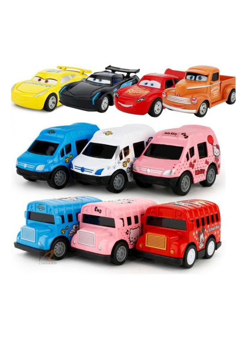 Cartoon Cars Pullback Racers Play Sets Toy