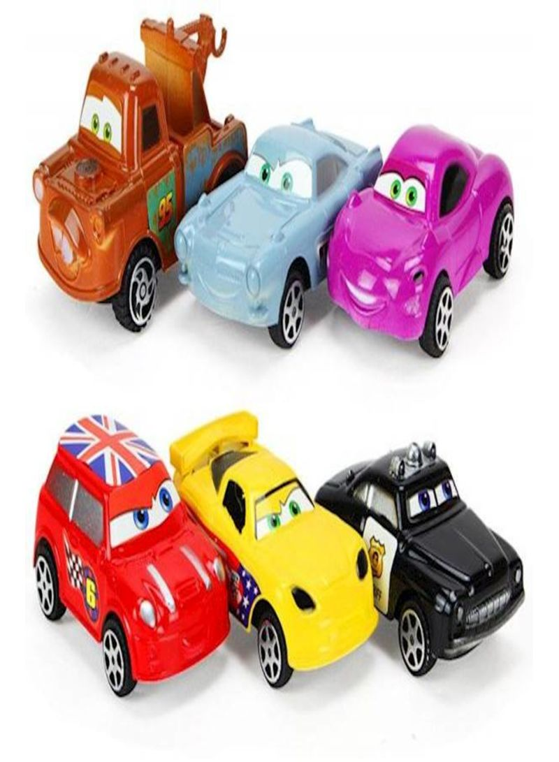 8-Piece Lightning Mcqueen Vehicle Car Toy