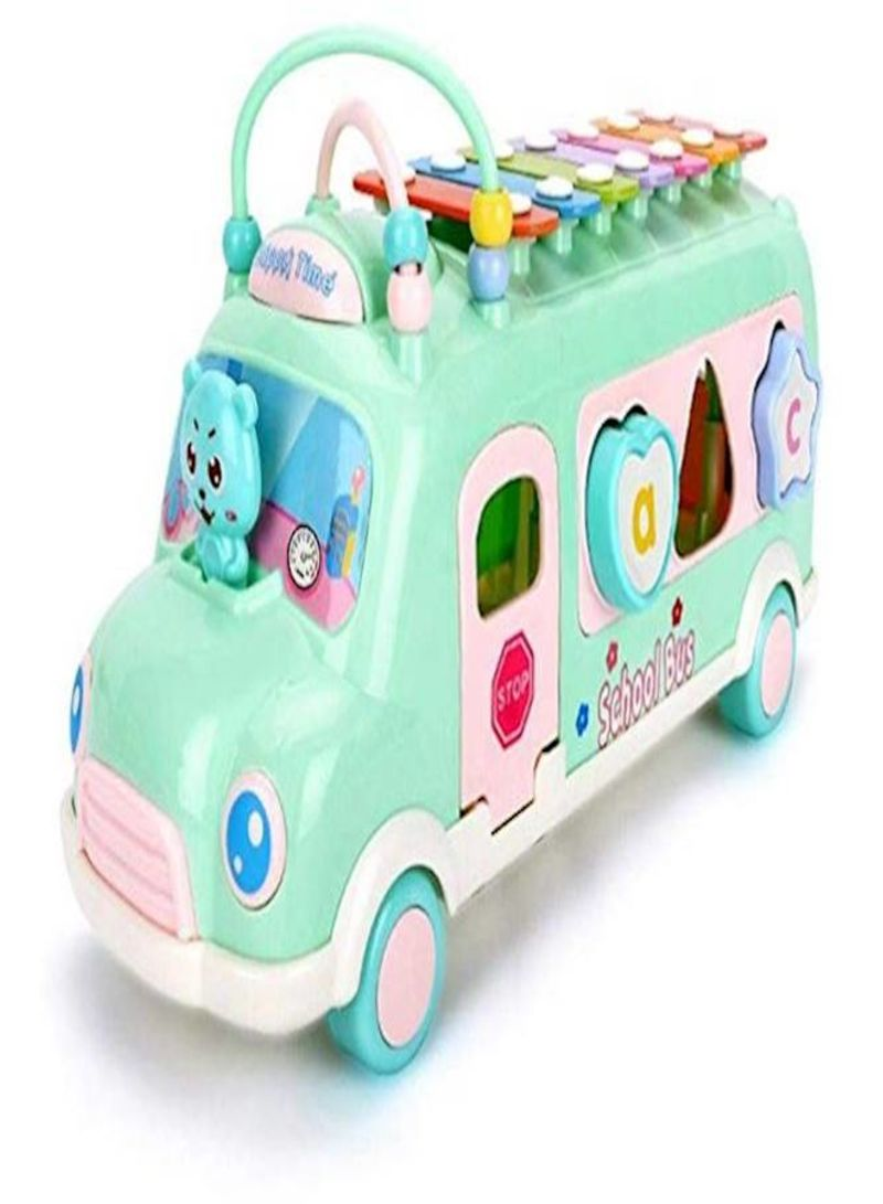 Bus Vehicle Toy Alphabet Gift Early Educational Learning Toys Music & Sound