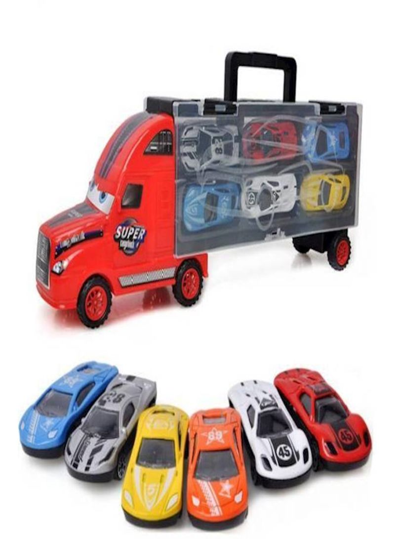 Children'S Car Toy Simulation Alloy Car Model Toy And 6 Sets
