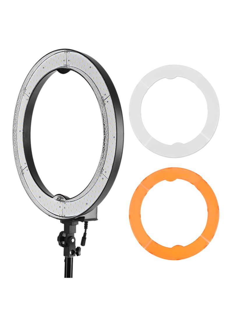 240-Piece Beads Macro LED Video Ring Light Lamp For Canon/Nikon/Sony/Camera/Camcorder Black
