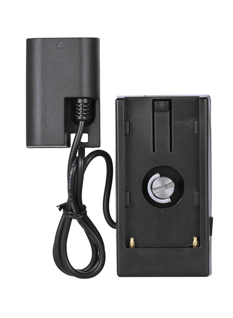 Battery Power Supply Plate Mount System Black