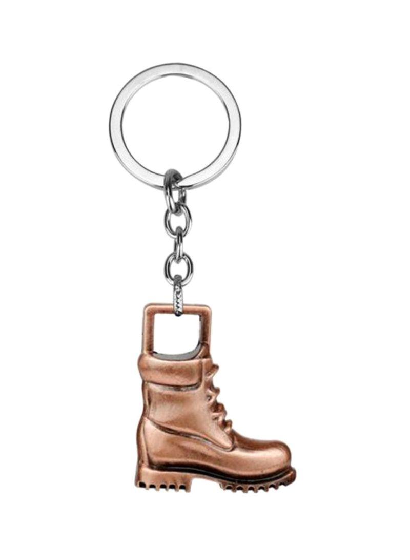 Vintage Boots Shape Alloy Metal Car Keyring