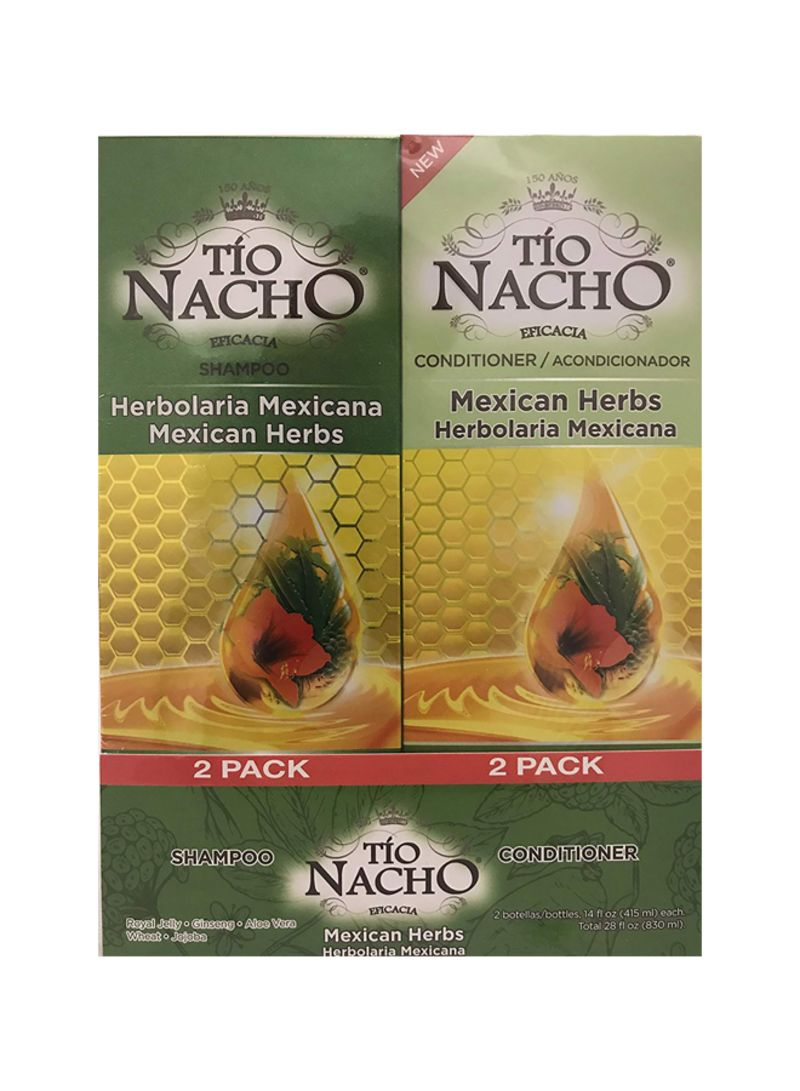 Pack Of 2 Mexican Herbs Shampoo And Conditioner Set 14 ounce