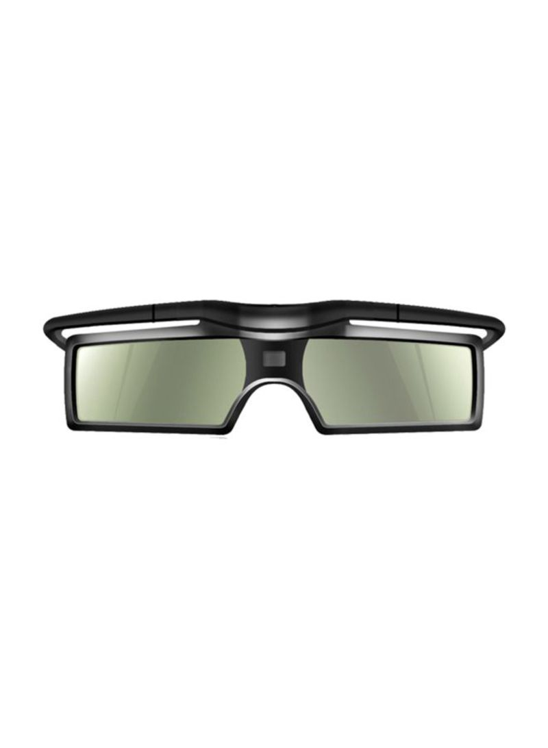 3D Active Shutter Virtual Reality Glasses Black/Clear