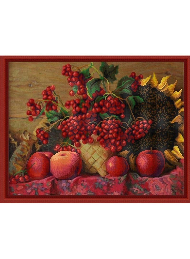 Fruits Pattern Schemes For Embroidery Multicolour 29x39 centimeter