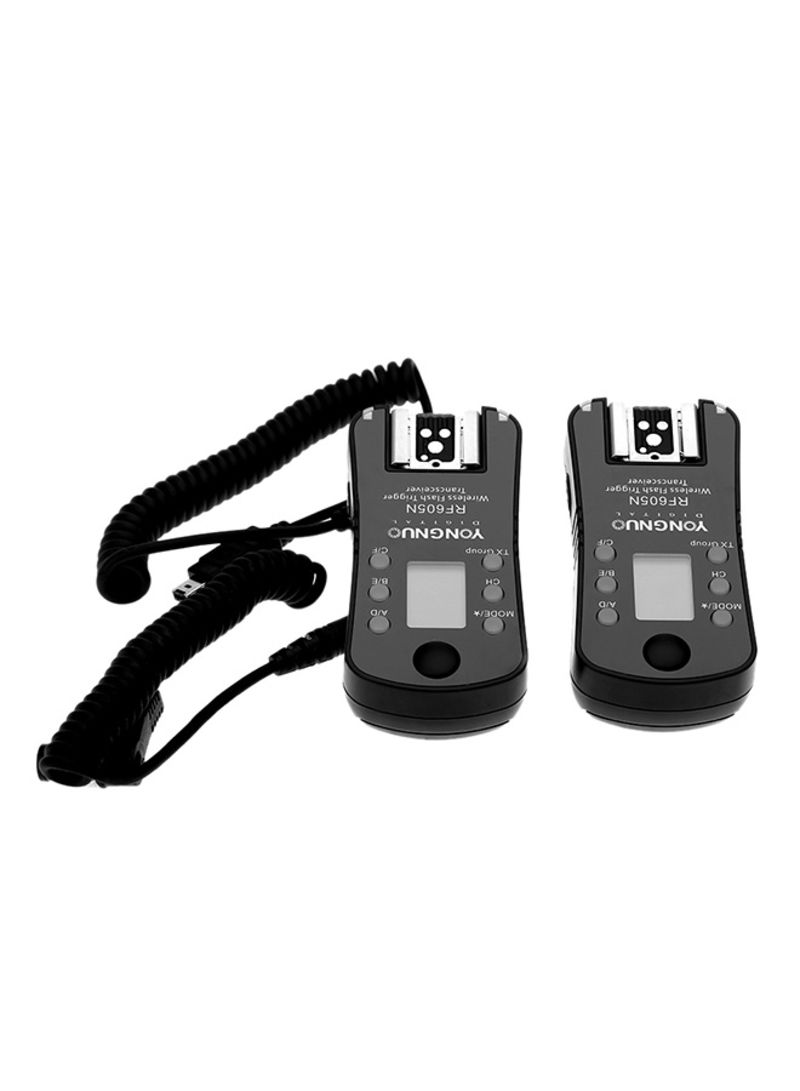 Wireless Flash Trigger And Shutter Release For Canon Camera Black
