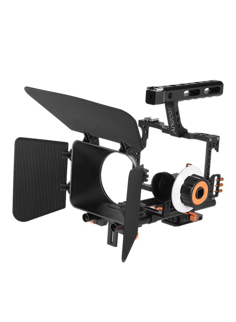 Camera Camcorder Video Cage Rig Kit For Panasonic GH4 Orange