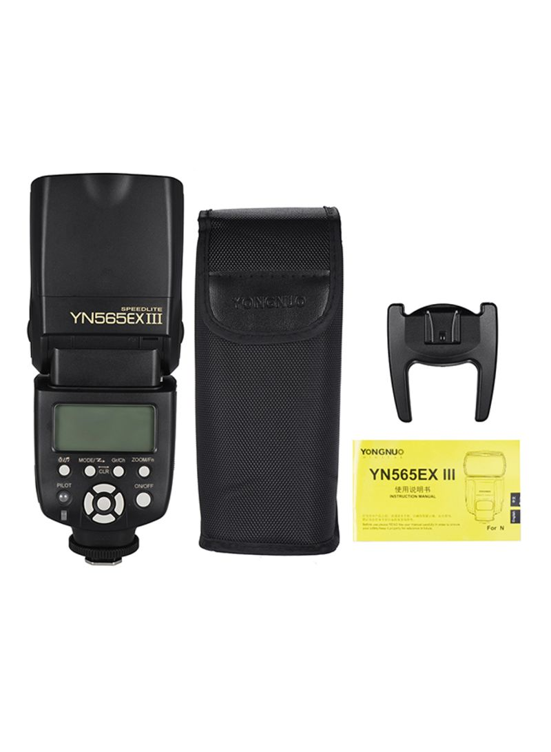 YN565EX Wireless Slave Flash DSLR Camera Black