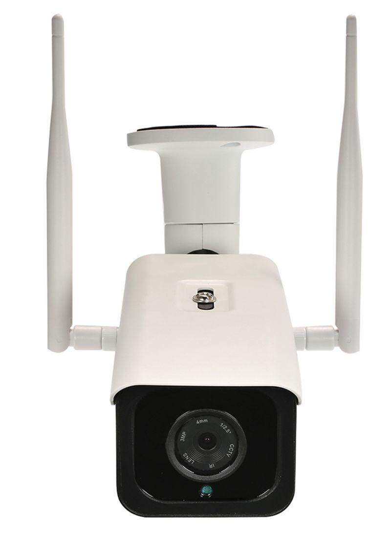 Wireless 1280P IR CUT Night Vision Waterproof CCTV Camera With SIM Card Slot White 0.968 kg