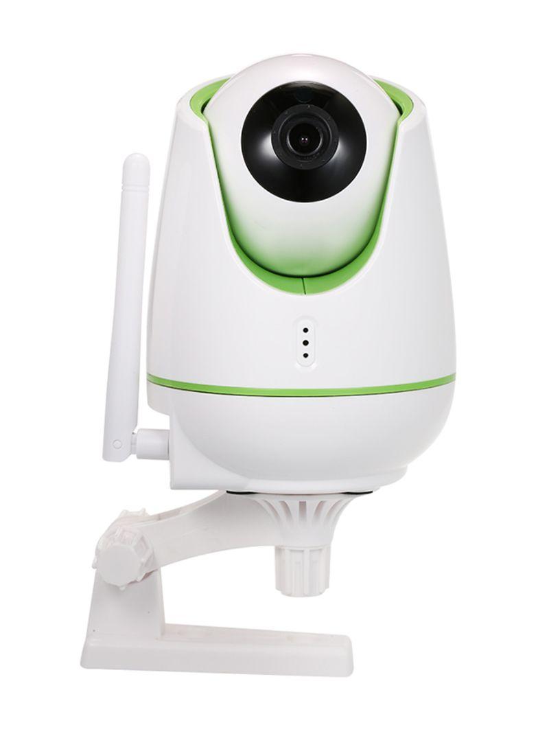 2 Way Audio Night Vision CCTV IP Camera Green/White