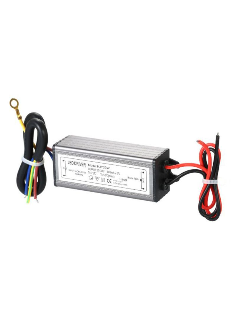20W LED Constant Current Driver Power Supply Adapter Multicolor