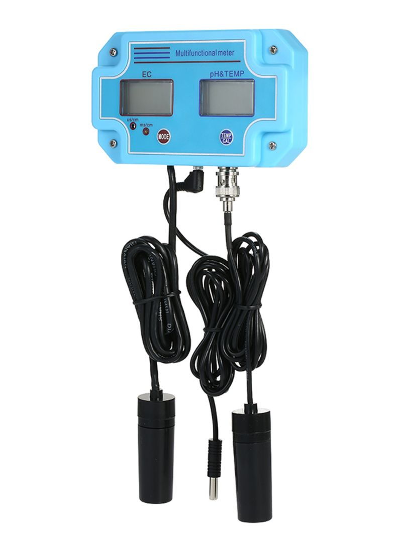 3-In-1 Multi-Parameter Water Quality Tester Blue