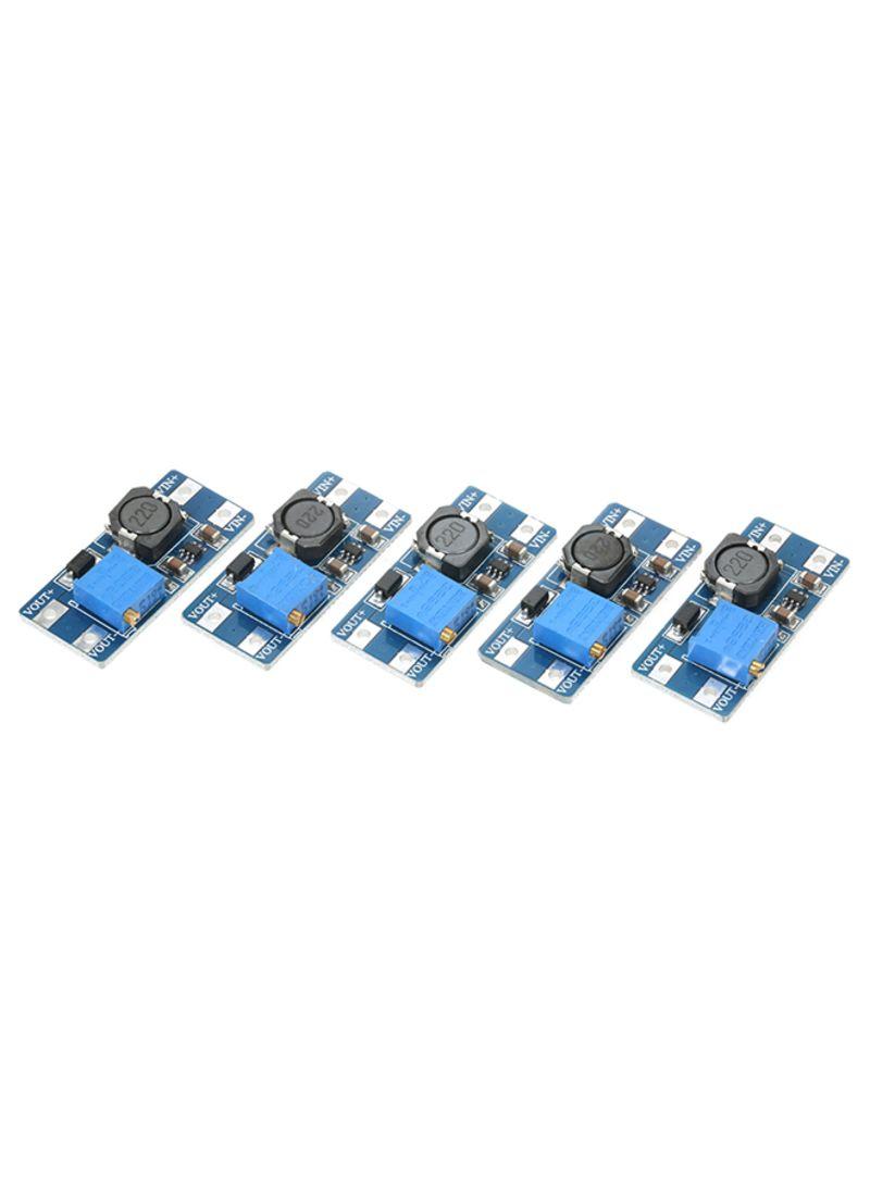 5-Piece MT3608 2A DC-DC Step Up Power Apply Module Multicolour 0.027 kg