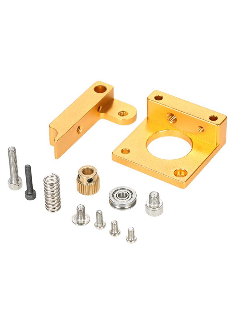 3D Printer MK8 Remote Extruder Accessories Frame For Makerbot Reprap Left Hand Gold